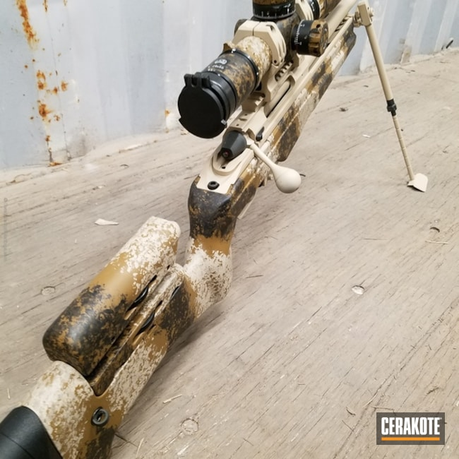 Cerakoted: Bolt Action Rifle,Armor Black C-192,FS FIELD DRAB C-30118,Desert Sand C-211