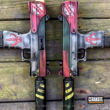 Cerakoted H-216 Smith & Wesson Red And H-240 Mil Spec O.d. Green