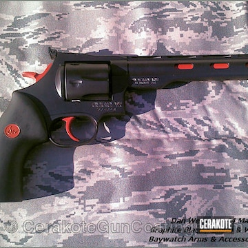 Cerakoted H-146 Graphite Black With H-216 Smith & Wesson Red