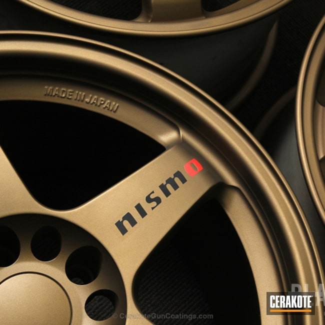Cerakoted: Rims,Custom,Nismo,Burnt Bronze H-148,More Than Guns,Wheels