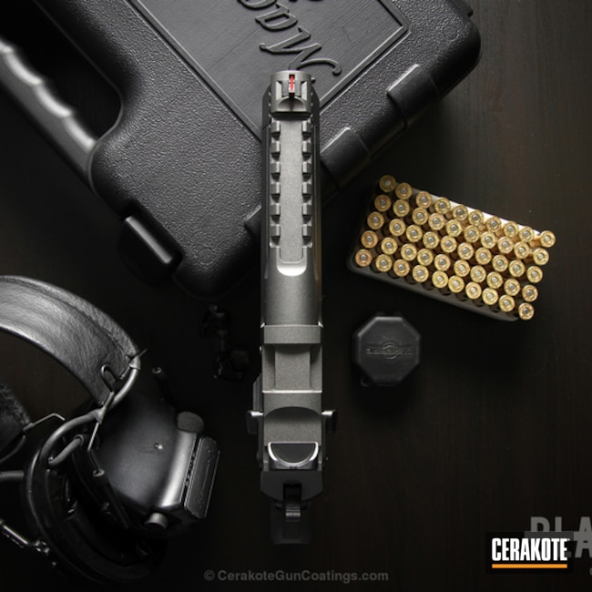 Mobile-friendly version of the 9th project picture. Magnum Research Inc, Two Tone, Pistol, Desert Eagle, Tungsten H-237Q