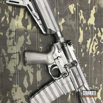 Cerakoted H-146 Graphite Black And H-234 Sniper Grey