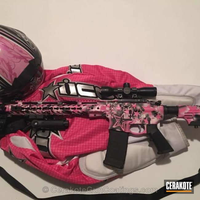 H-190 Armor Black, H-140 Bright White and H-141 Prison Pink