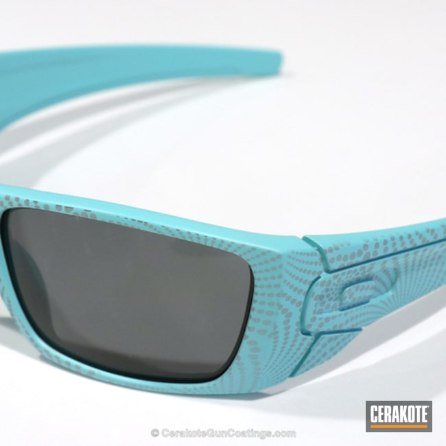 Cerakoted: Sunglasses,Shades,Oakley,Robin's Egg Blue H-175,Eyewear,More Than Guns,Laser Imaging,Laser