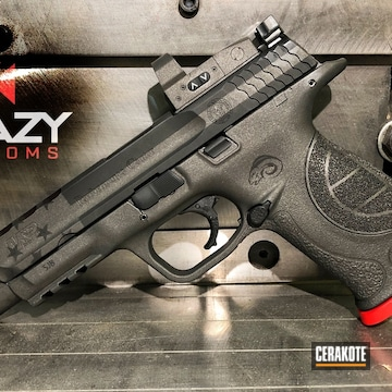 Cerakoted H-146 Graphite Black, H-167 Usmc Red And H-227 Tactical Grey