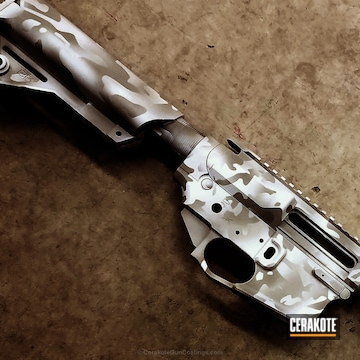 Cerakoted H-140 Bright White With H-214 Smith & Wesson Grey And H-213 Battleship Grey