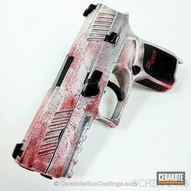 H-140 Bright White with H-216 Smith & Wesson Red and H-146 Graphite Black