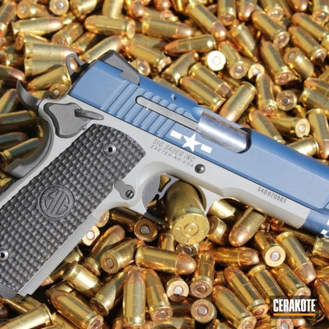 H-127 Kel-Tec Navy Blue with H-214 Smith & Wesson Grey and H-140 Bright White