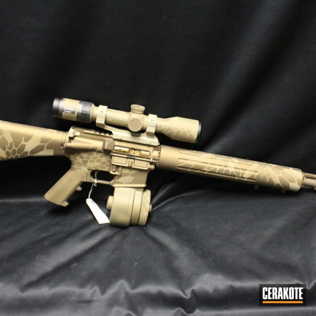 Mobile-friendly version of the 1st project picture. Kryptek, Tactical Rifle, Burnt Bronze H-148Q, Coyote Tan H-235Q