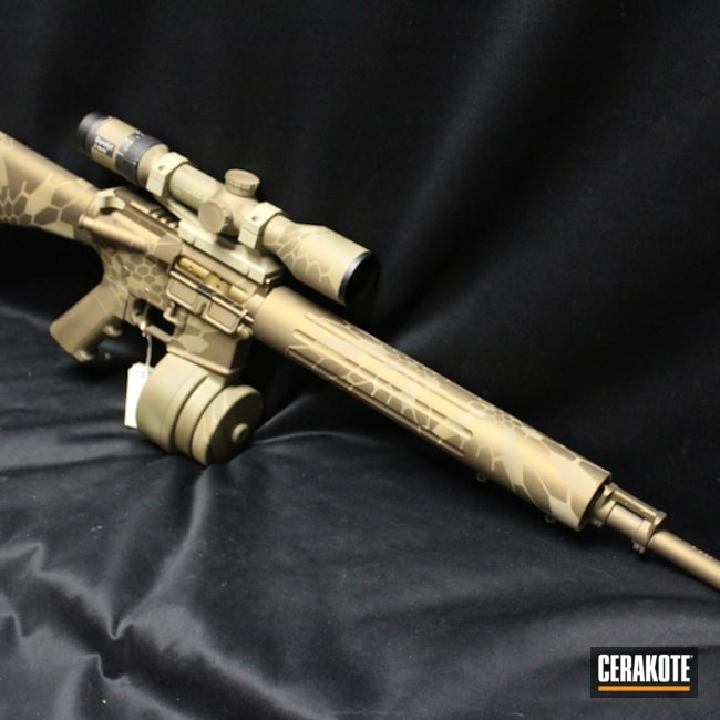 Mobile-friendly version of the 3rd project picture. Kryptek, Tactical Rifle, Burnt Bronze H-148Q, Coyote Tan H-235Q