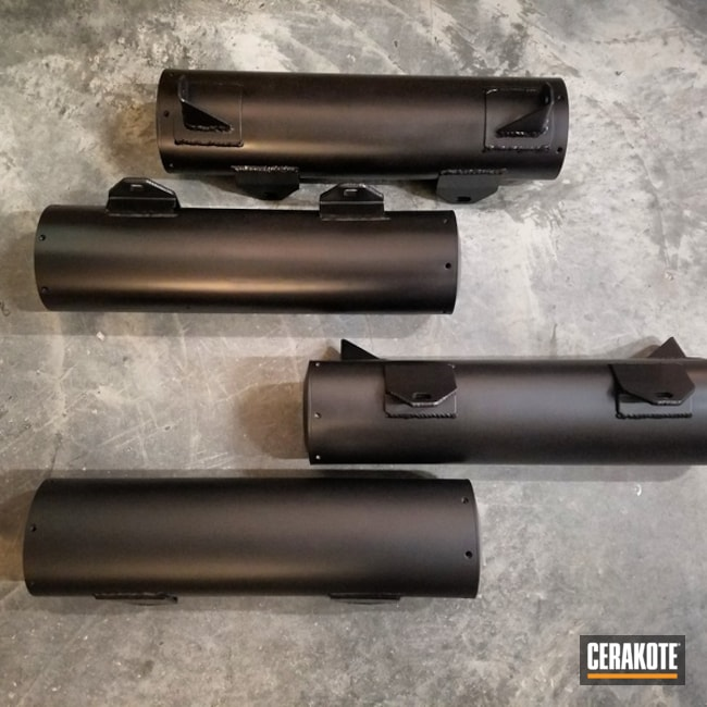 H-109 Gloss Black and C-7600 Cerakote Glacier Black