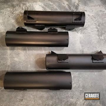 Cerakoted H-109 Gloss Black And C-7600 Cerakote Glacier Black