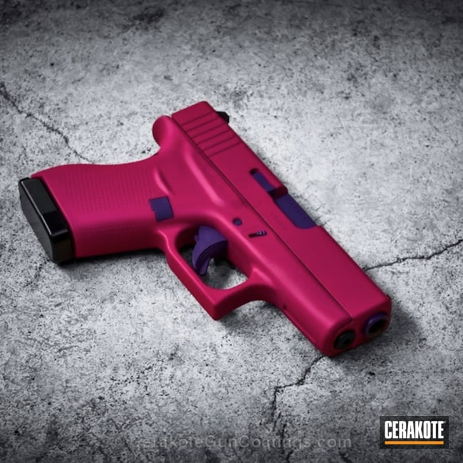 Big version of the 1st project picture. Glock, Handgun, Ladies, Bright Purple H-217Q, Sig Pink H-224Q