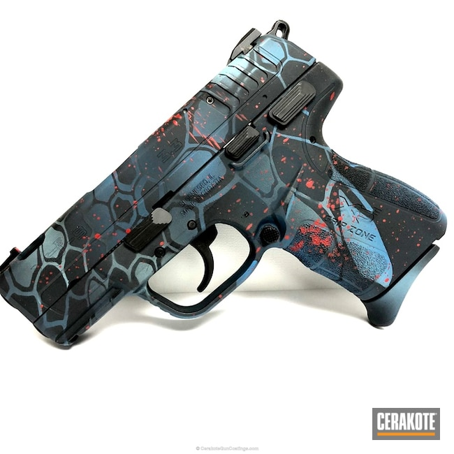 H-146 Graphite Black, H-216 Smith & Wesson Red, H-172 Sea Blue and H-175 Robin's Egg Blue