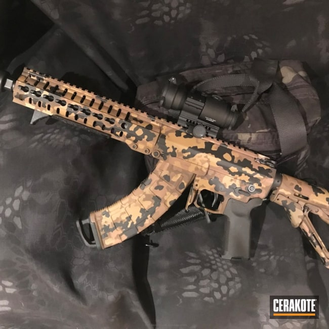 Cerakoted: Noveske Tiger Eye Brown H-187,MK47,Flecktarn,Graphite Black H-146,Mutant,Camo,Autum Russian Partizan Camo,SBR,Copper Brown H-149,AK Rifle,CMMG,Chocolate Brown H-258