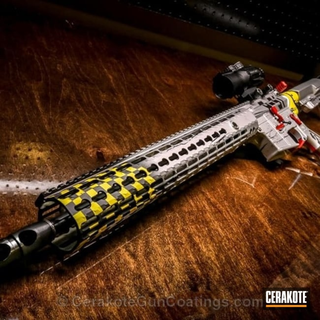 "Thumbnail image for project ""H-216 Smith & Wesson Red, H-144 Corvette Yellow, H-158 Shimmer Aluminum and H-109 Gloss Black"""
