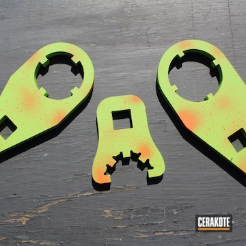 Cerakoted H-168 Zombie Green And H-128 Hunter Orange