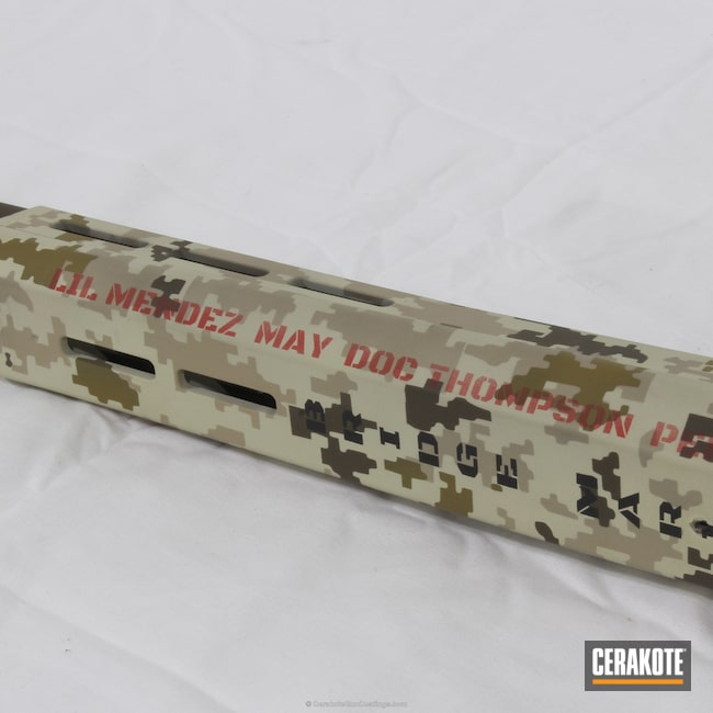 Cerakoted: Bolt Action Rifle,Noveske Tiger Eye Brown H-187,MAGPUL® FLAT DARK EARTH H-267,Digital Camo,9 line apparel,Gen II Desert Sage HIR-247,Marines,Chocolate Brown H-258,Charity Project