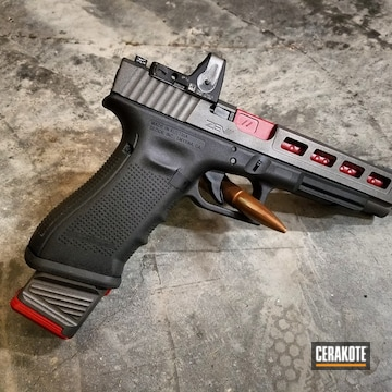 Cerakoted H-221 Crimson, H-237 Tungsten And H-216 Smith & Wesson Red