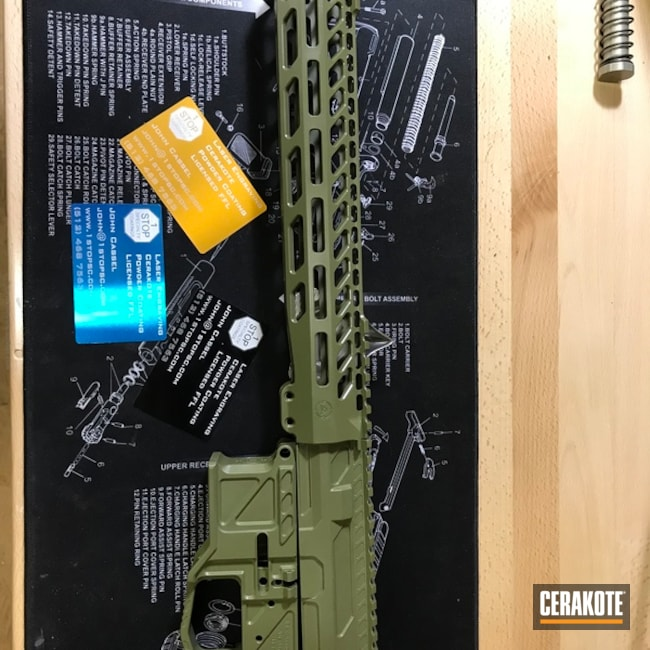 Smaller version of the 1st project picture. Noveske Bazooka Green H-189Q, Complete Upper