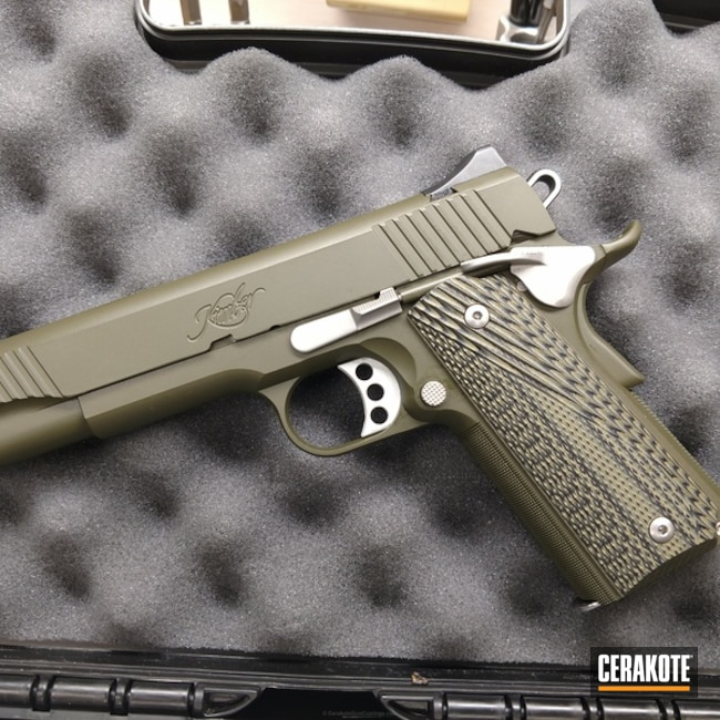 Smaller version of the 2nd project picture. Kimber, Pistol, Mil Spec O.D. Green H-240Q