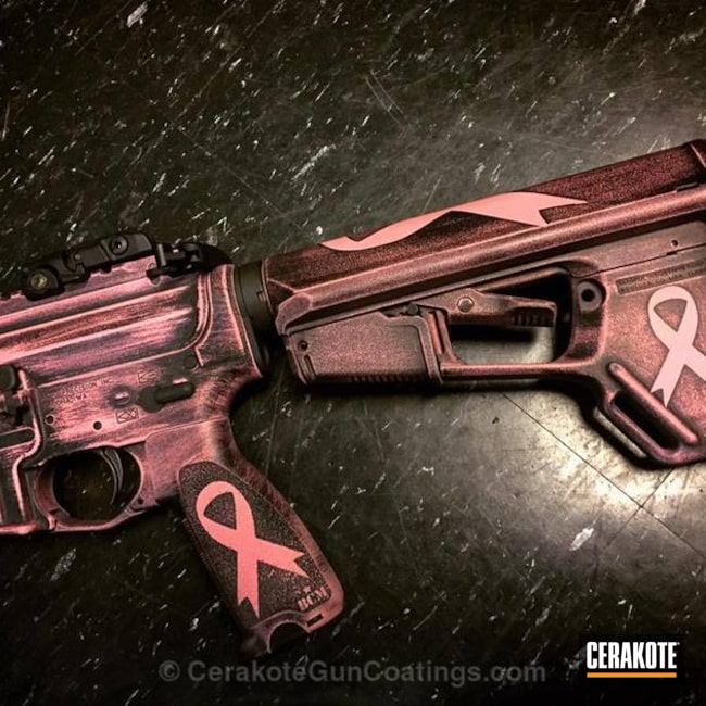 Mobile-friendly version of the 1st project picture. Graphite Black H-146Q, Distressed, Breast Cancer Awareness, Breast Caner Fundraiser, Pink, Breast Cancer, Bazooka Pink H-244Q