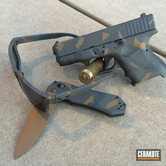 H-148 Burnt Bronze, H-188 MagPul Stealth Grey and H-210 Sig Dark Grey