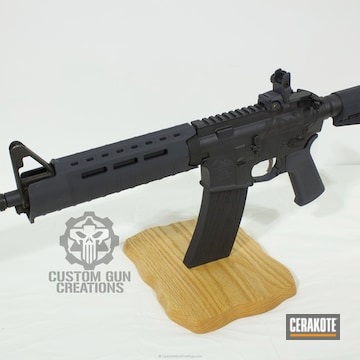Cerakoted H-146 Graphite Black And H-188 Magpul Stealth Grey