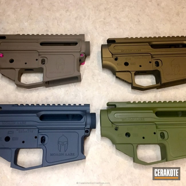 H-148 Burnt Bronze, H-267 MagPul Flat Dark Earth, H-234 Sniper Grey and H-189 Noveske Bazooka Green
