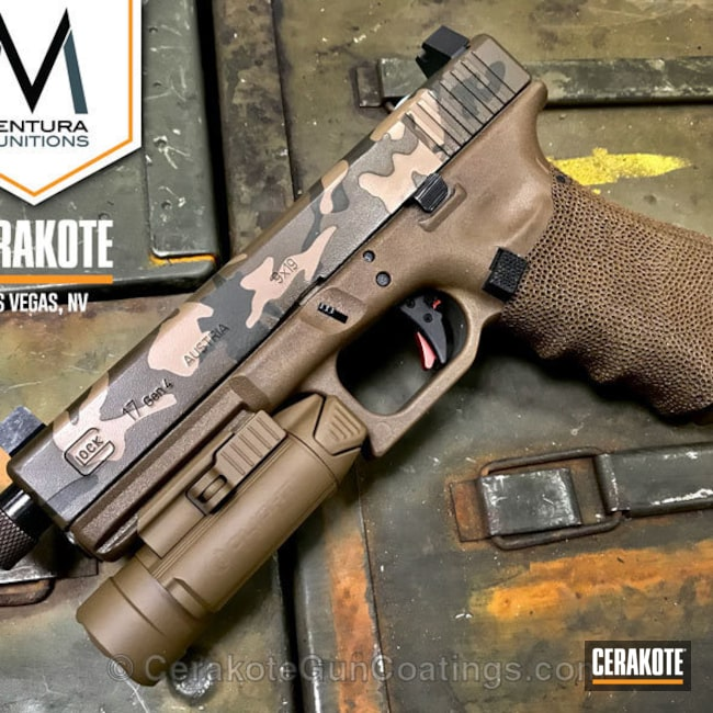 Custom Glock 17 coated in Glock FDE