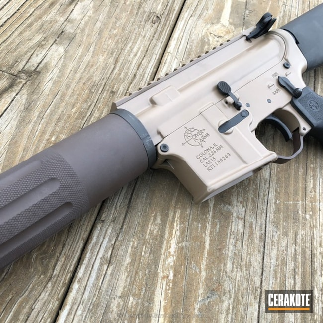 Rock River Arms AR-15 Platform coated in Cerakote's Chocolate Brown and Coyote M17