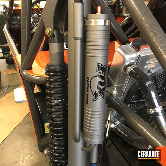 Cerakoted: Off Road,Graphite Black H-146,Tungsten H-237,More Than Guns,Automotive,Shock
