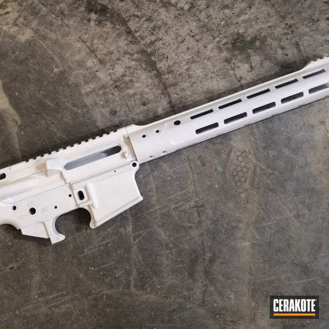 Smaller version of the 1st project picture. Gun Parts, AR-15, Ladies, AR Parts, Upper / Lower, Solid Tone, Stormtrooper White H-297Q