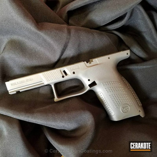 "Thumbnail image for project ""CZ Handgun Frame coated in Cerakote's Tungsten"""