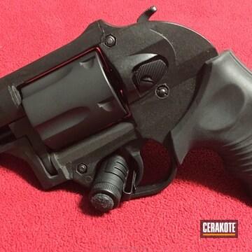 Cerakoted Taurus Revolver Coated In H-190 Armor Black