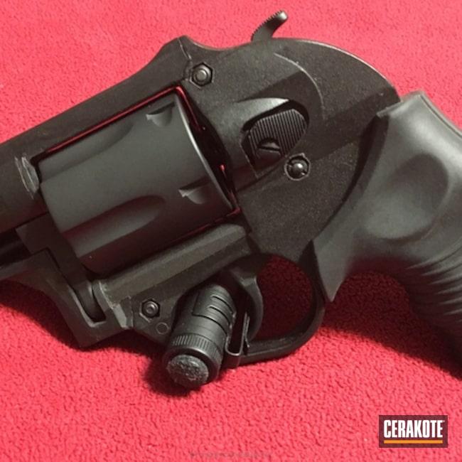 Cerakoted: Polymer Frame,.357 Magnum,Revolver,Armor Black H-190,Taurus