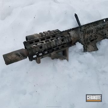 Cerakoted Spike's Tactical Rifle Build Coated In A Cerakote Kryptek Camo Pattern