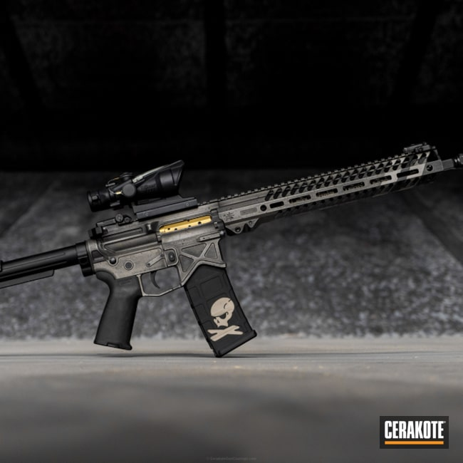 Seekins Precision Rifle finished in Cerakote's Graphite Black, Gen II Graphite Black and Stainless Coatings
