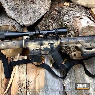 Cerakoted Custom Cerakoted Ar15 Hunting Rifle