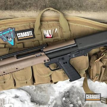 Cerakoted Kel-tec Ksg Shotgun Cerakoted In Armor Black And Magpul Flat Dark Earth