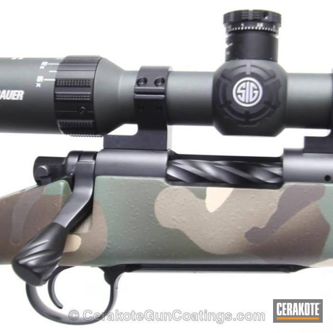 Cerakoted: Bolt Action Rifle,Custom Rifle,MAGPUL® FLAT DARK EARTH H-267,HAZEL GREEN H-204,MultiCam,Graphite Black H-146,BENELLI® SAND H-143,Remington,Grayboe,Custom Camo,MAGPUL® FOLIAGE GREEN H-231,Remington 700