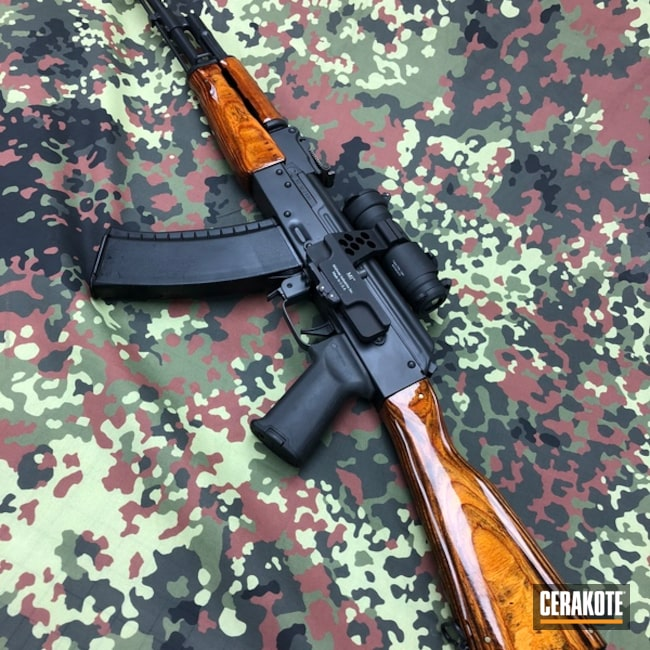 "Thumbnail image for project ""AK Rifle coated in Cerakote's Graphite Black and Bright Purple"""