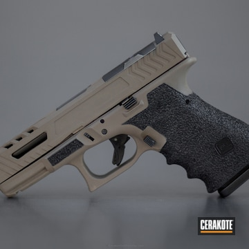 Cerakoted Custom Machined Glock 19 Handgun Coated In H-265 Flat Dark Earth