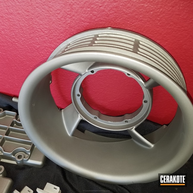 Custom Porsche Auto Parts coated in C-129 Stainless