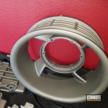 Cerakoted Custom Porsche Auto Parts Coated In C-129 Stainless