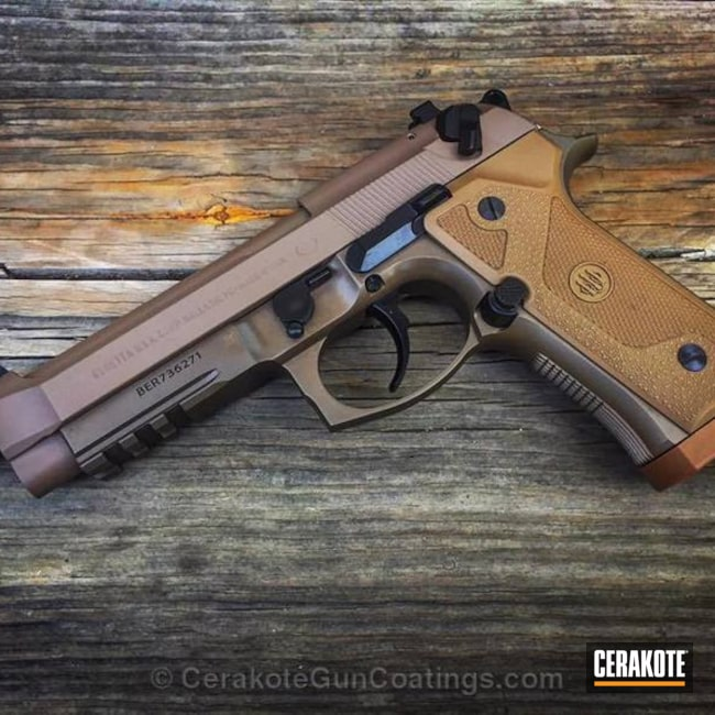 Cerakoted Beretta 92FS in a Custom Mixed Multi Tone Color