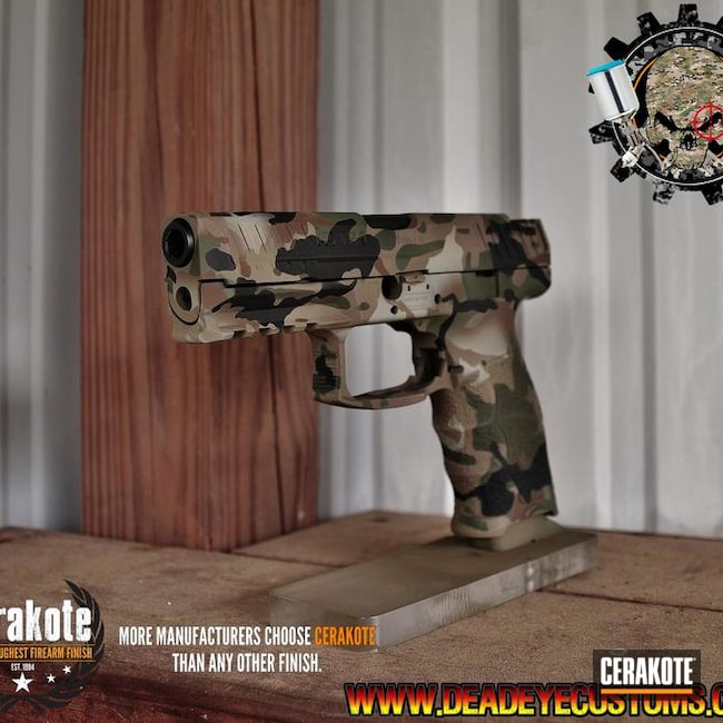 Cerakoted HK Handgun in a Custom MultiCam Pattern