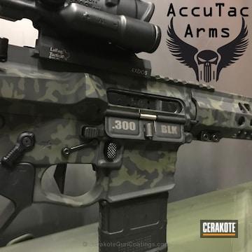 Cerakoted Tactical Rifle Cerakoted In A Jungle Multicam Pattern