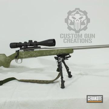 Cerakoted Cerakoted Hunting Rifle In A Custom Camo Finish