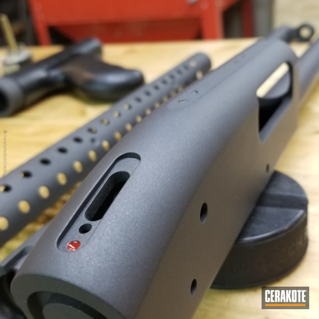 Mossberg Gun Parts coated in H-112 Cobalt